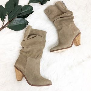 Chinese Laundry | Brown Suede Heeled Boots